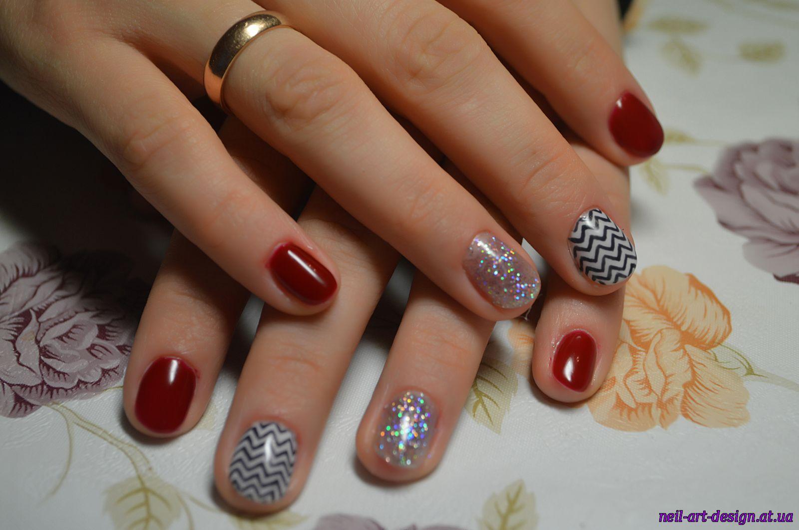 Вишневый маникюр: фото дизайна ногтей вишневого цвета 4